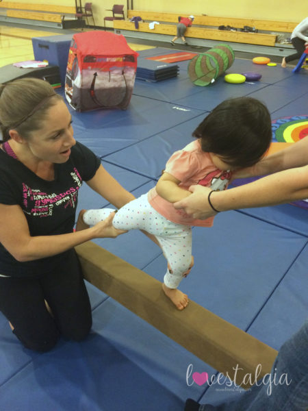 Little A at her Tumble N Kids class when she was almost 2.