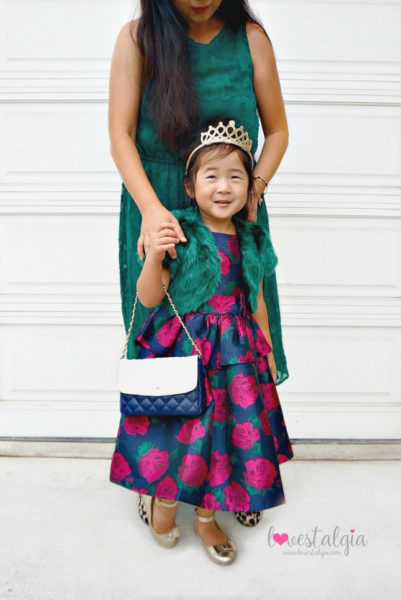 Janie and Jack Kids Fashion Rose Peplum dress holiday outfit mommy and me twinning