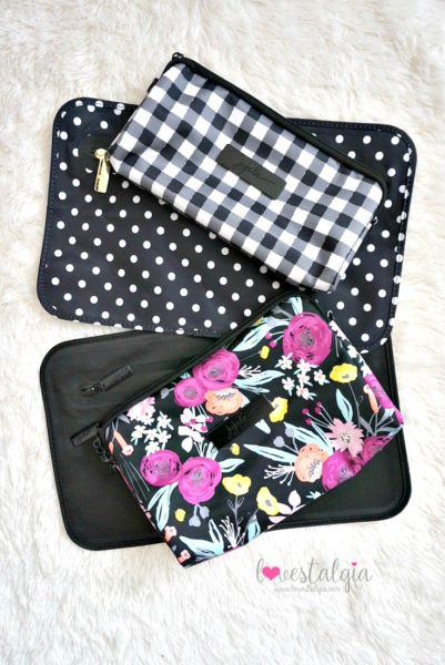 Jujube black and bloom gingham style print comparison floral diaper bag duchess black out be dry
