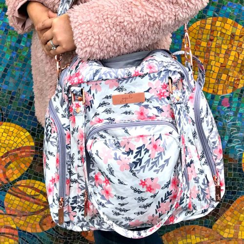 Jujube, Rose Collection, Be Supplied Breast Pumping Bag, Diaper Bag, Sakura Swirl