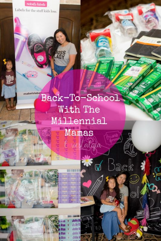 the millennial mamas, back to school, westlake village inn, mommy and me, mabels labels, school supplies