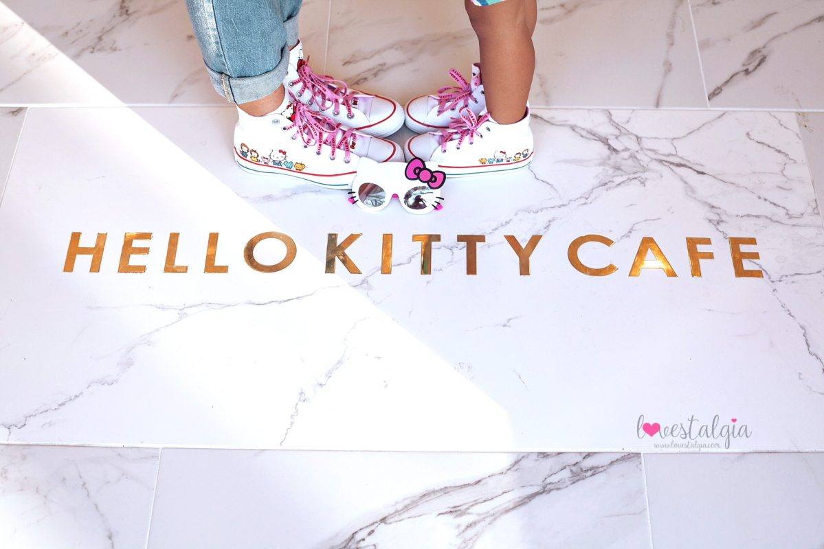 hello kitty grand cafe, hello kitty cafe, irvine spectrum, hello kitty, sanrio, bow room. converse hello kitty shoes, sunstache sunglasses