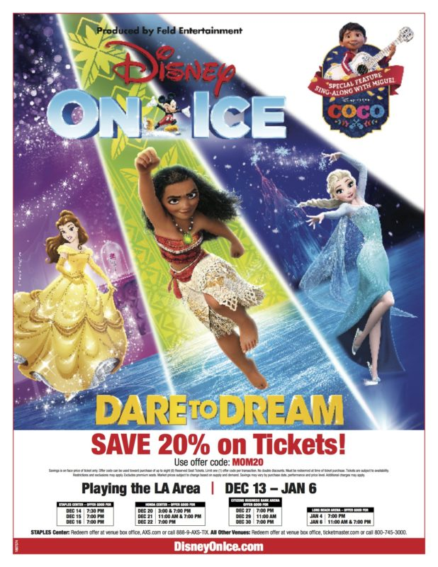 dare to dream, disney on ice, discount tickets