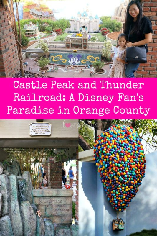 castle peak and thunder railroad, architect, david sheegog, disneyland replica, disneyland castle, disney, anaheim, disney, mickey mouse, disneyland railroad, haunted mansion, disney fan, big thunder mountain, up balloon, up house, things to do in orange county