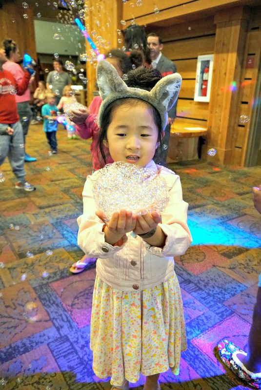 great wolf lodge, spring a palooza, family vacation, family of three, travel tips with kids, family of three, northwood's tea party, springtime activities, bubble dance party