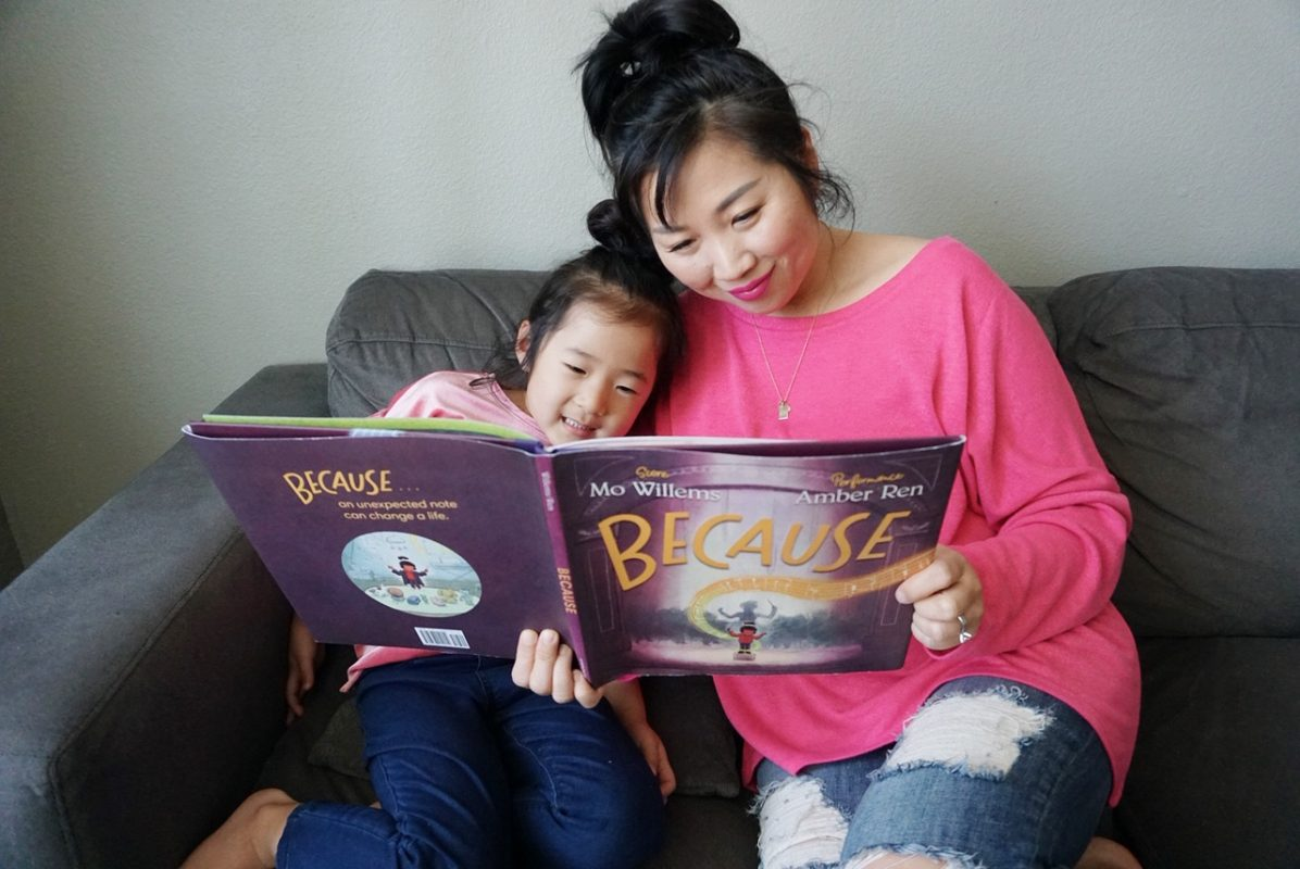 because, mo willems, new book, reading, literacy, family reading, children's book