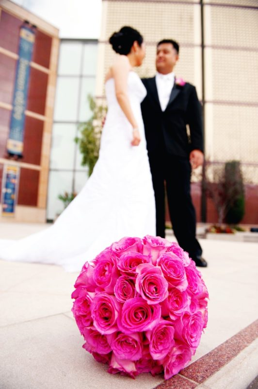 wedding, pink wedding, wedding bouquet, wedding anniversary, lessons in marriage, 10 years of marriage, bride and groom