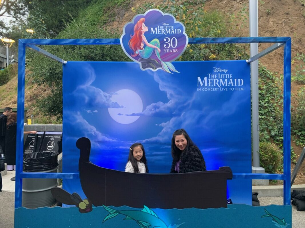 disneybounding, disneybound, mommy and me disney outfits, the little mermaid, hollywood bowl, little mermaid and ursula
