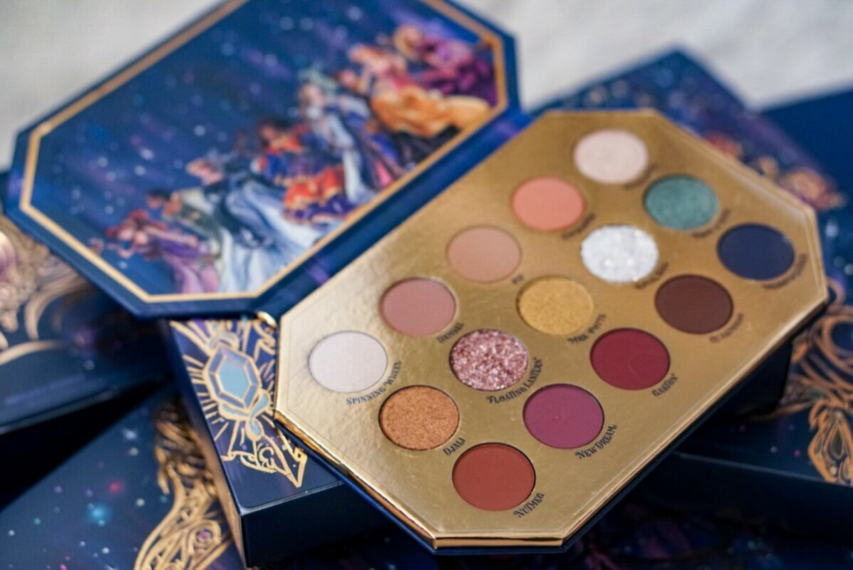 disney designer collection, colourpop cosmetics, midnight masquerade, disney colourpop, disney makeup, eyeshadow palette