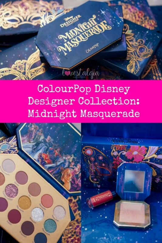 disney designer collection, colourpop cosmetics, midnight masquerade, disney colourpop, disney makeup,