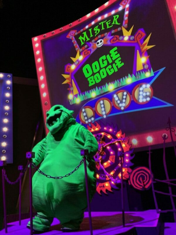 oogie boogie bash, disney california adventure, immersive treat trail, oogie boogie, animation academy