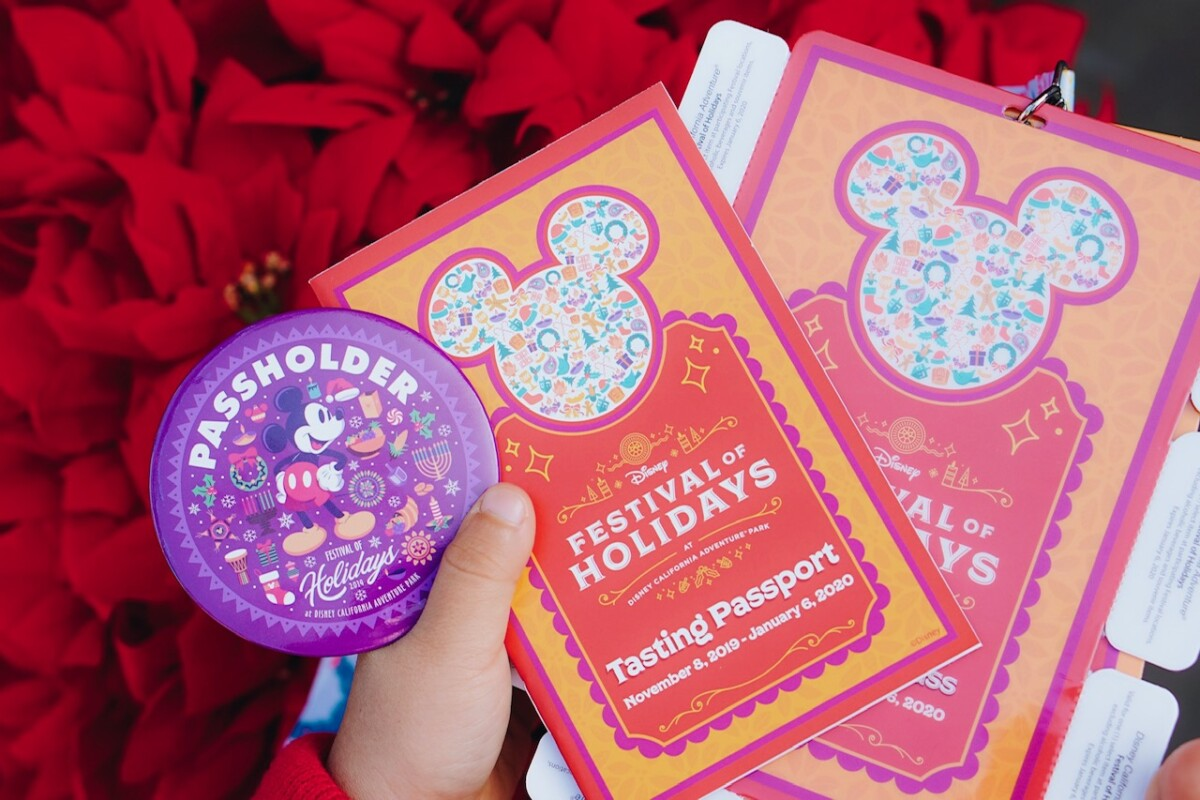 sip n savor pass, annual passholder pin, disneyland, disney california adventure, festival of the holidays