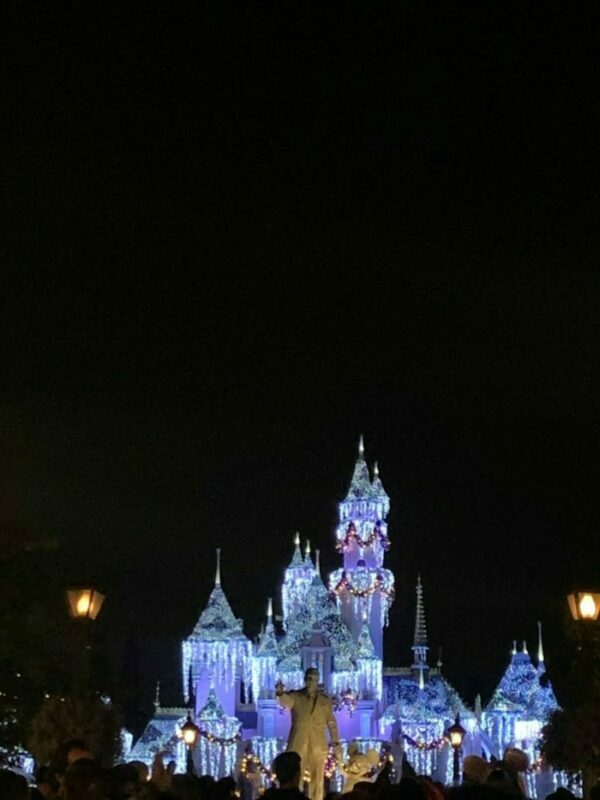 disneyland, holidays, festival of the holidays, sleeping beauty castle, castle lighting