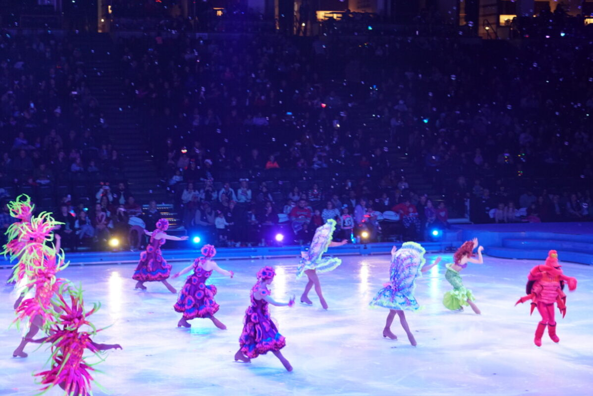 disney on ice, mickeys search party, honda center, the little mermaid, ice skating