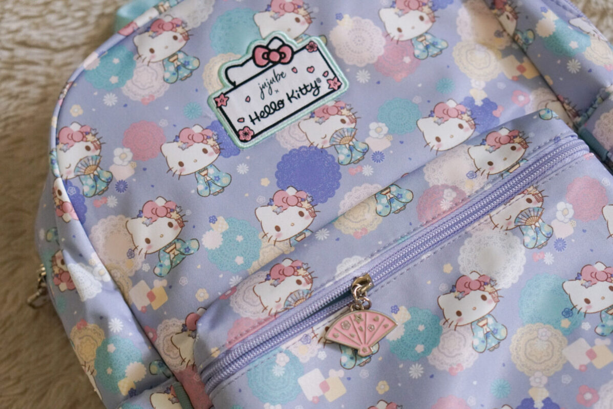 jujube, hello kitty kimono, midi backpack, hello kitty, jujube print comparisons