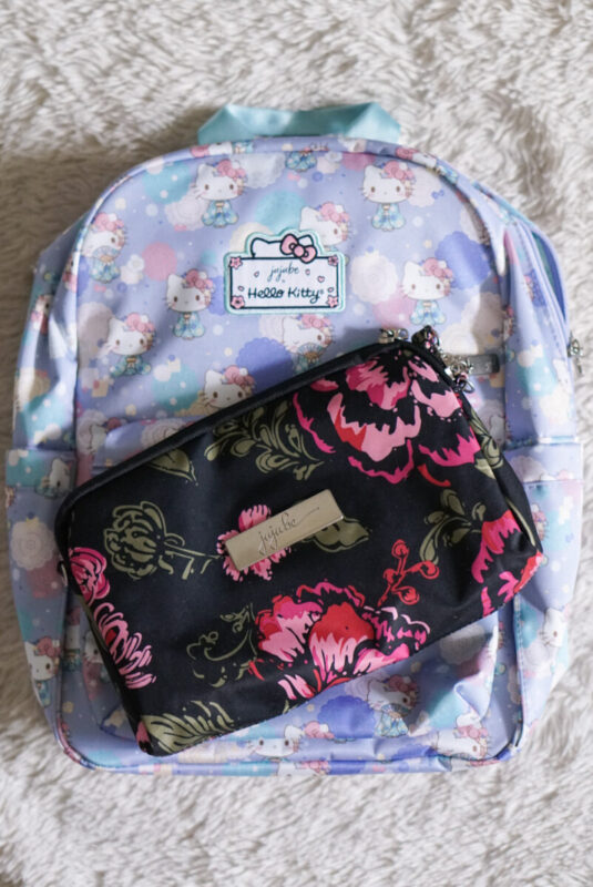 jujube, hello kitty kimono, midi backpack, hello kitty, jujube print comparisons, blooming romance