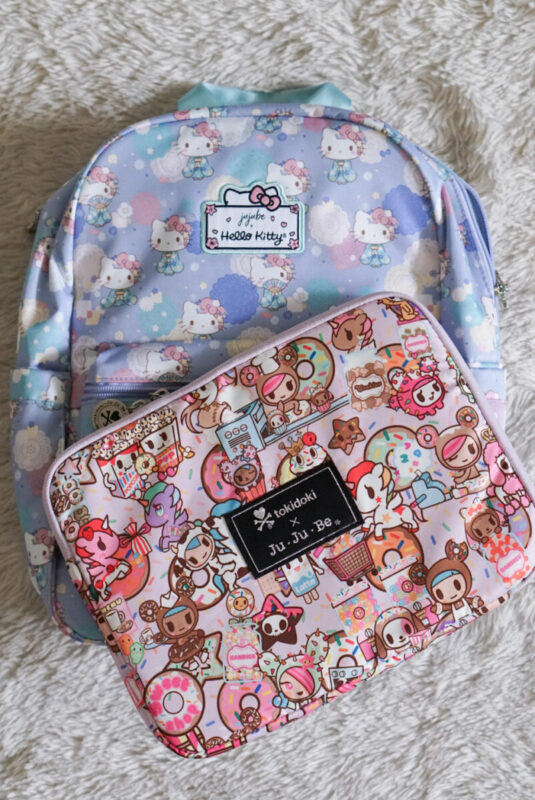 jujube, hello kitty kimono, midi backpack, hello kitty, jujube print comparisons, donutella sweet shop