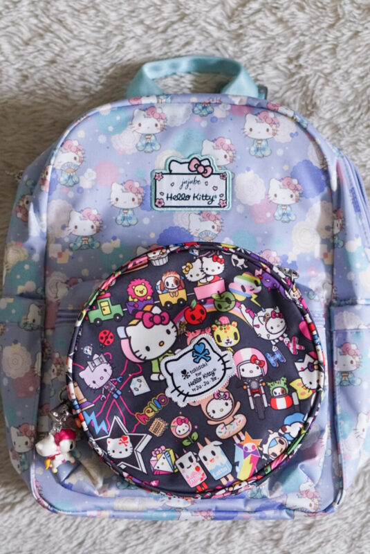 jujube, hello kitty kimono, midi backpack, hello kitty, jujube print comparisons, dream world be pop