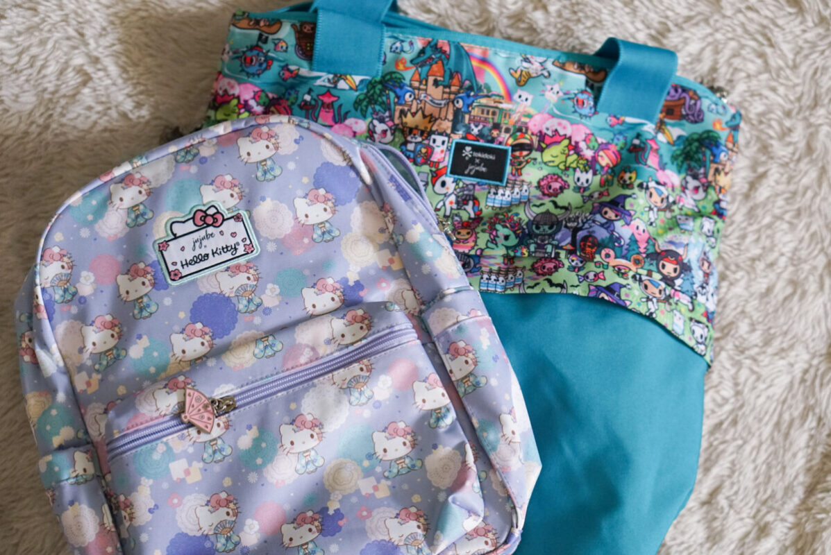 jujube, hello kitty kimono, midi backpack, hello kitty, jujube print comparisons, fantasy paradise, tokidoki
