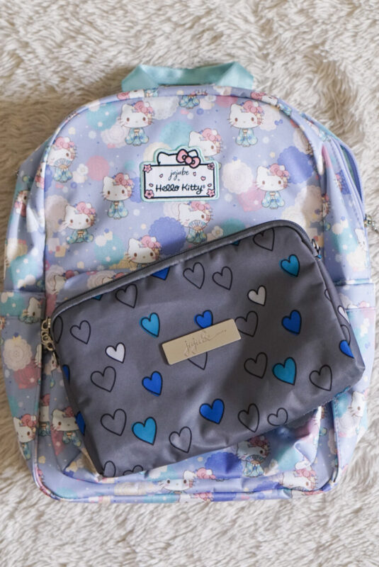 jujube, hello kitty kimono, midi backpack, hello kitty, jujube print comparisons, happy hearts