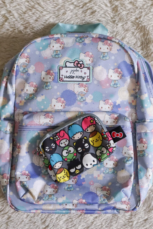 jujube, hello kitty kimono, midi backpack, hello kitty, jujube print comparisons, hello friends