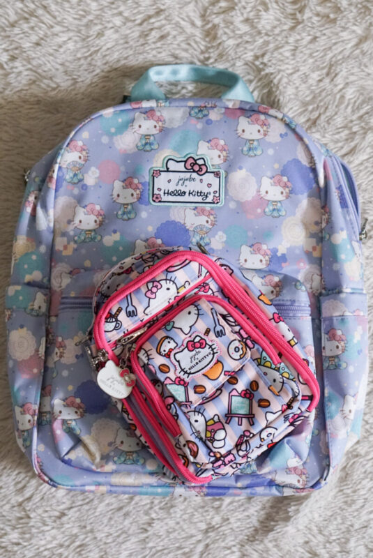 jujube, hello kitty kimono, midi backpack, hello kitty, jujube print comparisons, hello kitty bakery