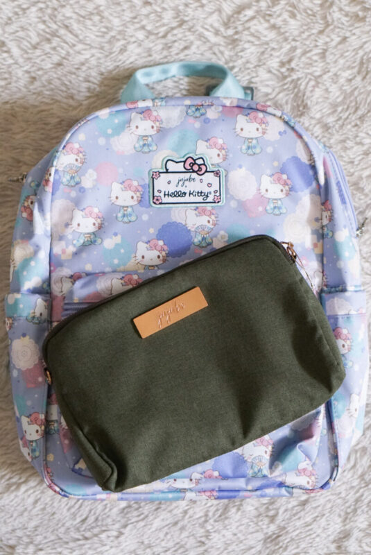 jujube, hello kitty kimono, midi backpack, hello kitty, jujube print comparisons, olive chromatics