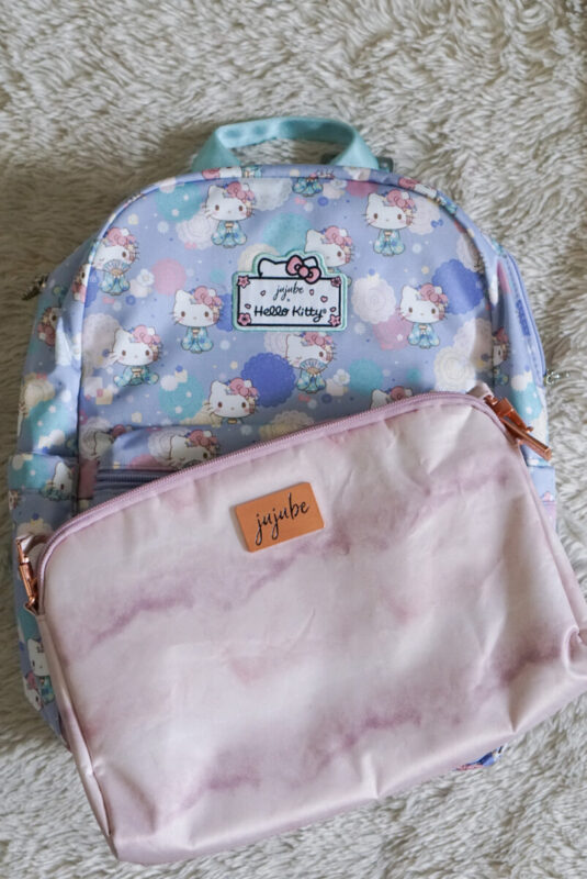 jujube, hello kitty kimono, midi backpack, hello kitty, jujube print comparisons, rose quartz