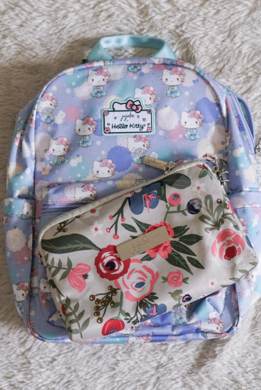 jujube, hello kitty kimono, midi backpack, hello kitty, jujube print comparisons, Rosy Posy