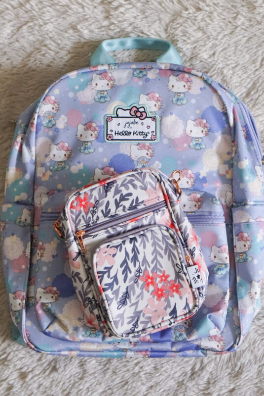 jujube, hello kitty kimono, midi backpack, hello kitty, jujube print comparisons, sakura swirl