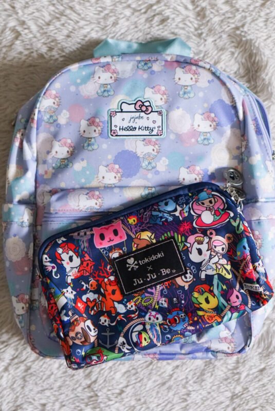 jujube, hello kitty kimono, midi backpack, hello kitty, jujube print comparisons, sea punk