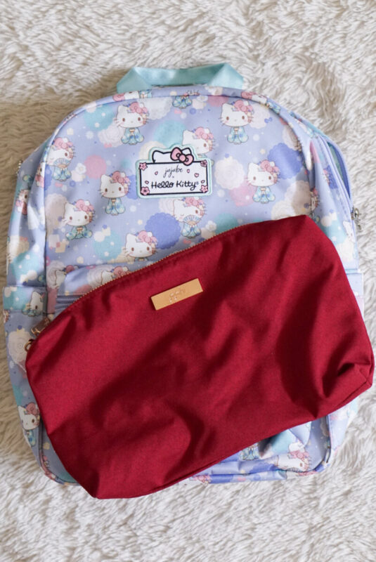 jujube, hello kitty kimono, midi backpack, hello kitty, jujube print comparisons, tibetan Red chromatics