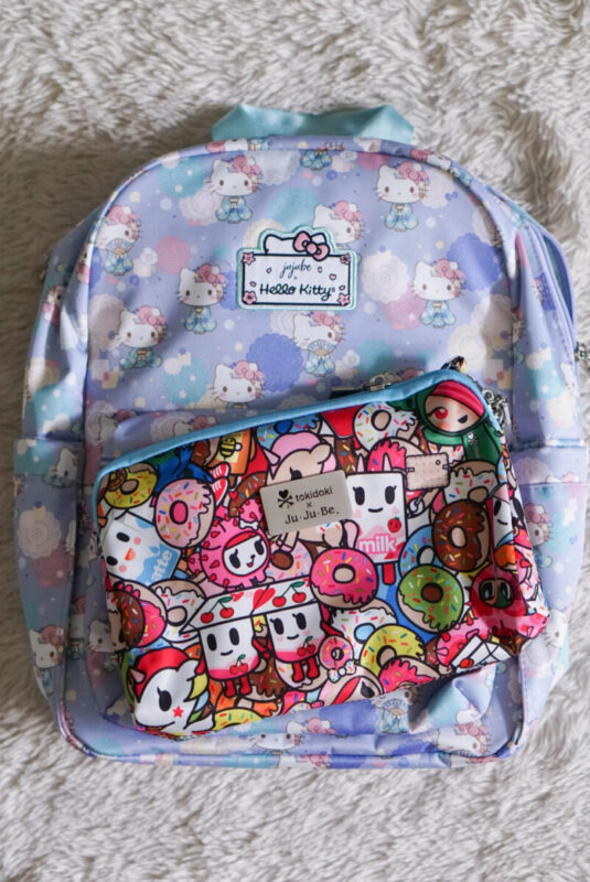 jujube, hello kitty kimono, midi backpack, hello kitty, jujube print comparisons, tokipops