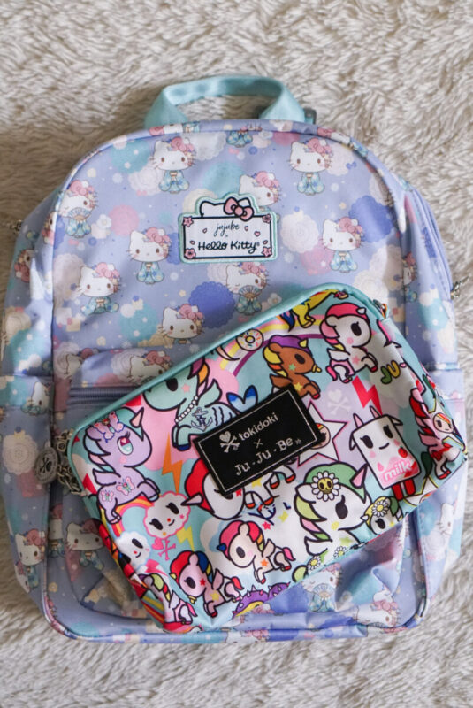 jujube, hello kitty kimono, midi backpack, hello kitty, jujube print comparisons, unikiki 2.0